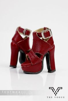 B584 The Vogue Rose Leather Fashion Ankle Boots Shoes for FR Barbie