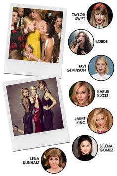 Trying to narrow down Taylor Swift's girl gang seems like a near-impossible task, but if we had to select a core group, this impressive lineup would be it. (Karlie Kloss gets the extra nod for being head-BFF-in-charge.) All-Around Vibe: Likeable, outspoken, and on top of the world. Preferred PDA: Group hugs and impromptu dance parties at awards shows; selfies in each other's bedrooms (or on group vacations). Signature Look: Varies among members (when they're not in their red carpet finery)…