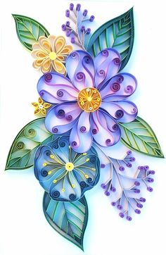 Quilling is one of the easier crafts to begin and one of the least expensive. Nevertheless, quilling produces some of the most ornate and beautiful designs a crafter can produce. Quilling is paperc… Paper Quilling Cards, Arte Quilling, Quilling Letters, Quilling Work, Paper Quilling Flowers, Paper Quilling Patterns, Quilled Paper Art, Quilling Craft, Quilling Ideas