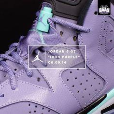 "Air Jordan 6 GS ""Iron Purple"" | Saturday! HEAT! LADIES GO! | www.sneakerbaas.nl | #air #jordan #iron #baasbovenbaas"