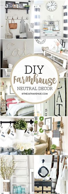 Splendid Farmhouse DIY Decor Ideas – Over 100 DIY Farmhouse Home Decor Ideas that are perfect to give your own home the charming and classic style of country living with a modern touch!  The pos ..
