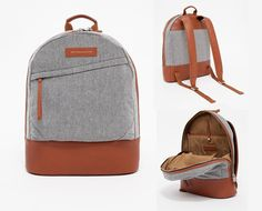 Gift idea: Backpacks are great gifts because you can fill them full of smaller gifts within a theme. The Kastrup Backpack in Cognac by Want Les Essentiels de la Vie   Available from Need Supply Co. #holidaygifts #mensfashion #thenatty