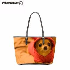 42.74$  Watch here - http://aliymz.shopchina.info/go.php?t=32809894919 - WHOSEPET Pu Women Totes Bag Cute Chihuahua Printing Shoulder Bag Animals Lady Top-Handle Bags Fashion New Arrivals Satchel Girls 42.74$ #shopstyle