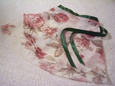 Wrap Around Ballet Skirt White with Pink Roses and by MelanieEyth