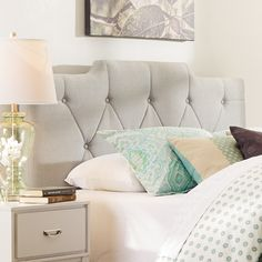 Three Posts Inset Upholstered Headboard & Reviews | Wayfair