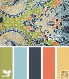 24. #Green, Pink + Blue - 32 Best-Ever #Bedroom Palettes ... → DIY #Habits