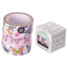 3 rolls of self adhesive paper tape featuring cute animal designs. Dimensions of tape: 1.25cm height by 250cm length.  Each roll of tape: 1.25cm x 4cm x 4cm For ages 36 months and over. Be part of the Washi tape movement.  Use your tape to brighten up your belongings.  Use your imagination to create patterns...  Read more »