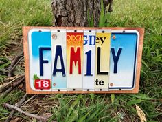 FAMILY CUSTOM Recycled License Plate Art Sign by CustomPlateArt4U, $25.00