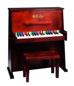 Schoenhut 37 Key Day Care Durable Upright Piano - Mahogany 3798M