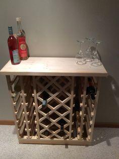 42 Bottle Lattice Style Wine Rack
