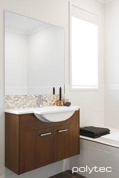 Vanity in MELAMINE Tessuto Milan Matt. | Modern Bathroom Design ...