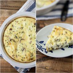 Roasted Potato, Onion, and Rosemary Crustless Quiche via Naturally Ella