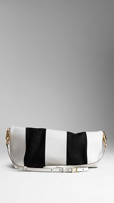 The Petal in Canvas and Leather Stripes   Burberry