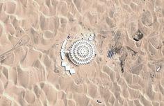 A Lotus in the Desert: China's Xiangshawan Resort - In Focus - The Atlantic Desert Lotus Hotel, Mongolia Gobi Desert, Water Energy, Chinese Architecture, The Dunes, Beautiful Hotels, Train Tracks, Best Hotels, Lotus, Mongolia