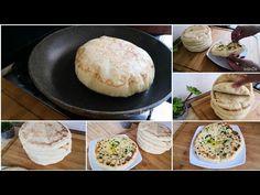 batbout marrocchino facile e buono senza impastare - YouTube Focaccia Pizza, Baked Potato, Buffet, Food And Drink, Bread, Ethnic Recipes, Pane Pizza, Youtube, Loaf Bread Recipe