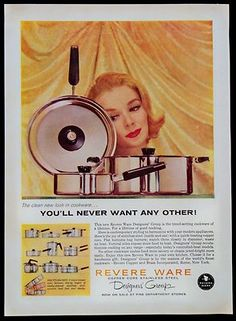 1960 Revere Ware Designer's Group Cookware Pots Pans Magazine Print Ad