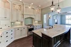 Stonecroft Homes | The GQ | Louisville Custom Builder....love the two tiered island