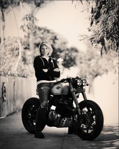THIS.. Katee Sackhoff and her KT600 from Classified Moto!