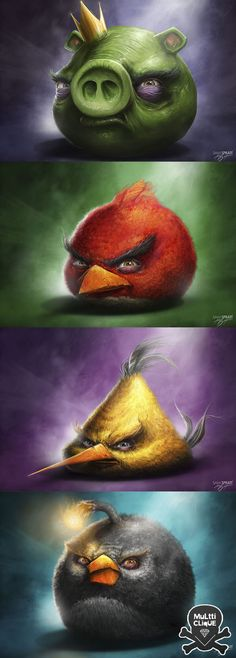 Appréciation- Angry Birds Real life cartoons - pick your favorite cartoon and redraw with life-like detail (HS)