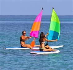 Paddle sails for paddleboards...This is awesome! So...on my list to dos!