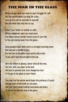 Man In The Mirror Poem 29