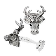 Stag Head Cuff Links   Lodge Inspired Cuff Links   Cuff Links and Accessories: Rejuvenating Menswear