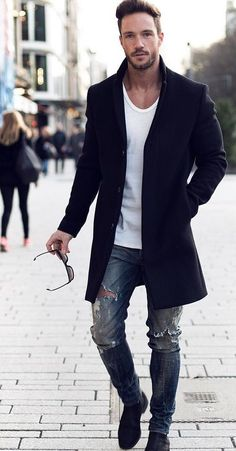 One great thing about men's fashion is that while most trends come and go, men's wear remains stylish and classy. However, for you to remain stylish, there are men's fashion tips you need to observe. Men Looks, Men Street, Street Wear, Fashion Mode, Mens Fashion, Street Fashion, Simply Fashion, Fashion Black, Latest Fashion