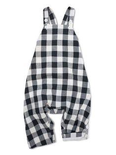 6e74dfc90 Buffalo Plaid Black + White Toddler Romper 2018   Kids Fall Fashion    Unisex Kids Clothing