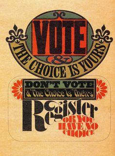 Herb Lubalin's Vote poster