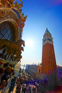 San Marco square seen from St.Mark's Cathedral, Venice, Italy