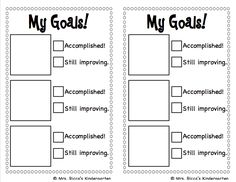 This checklist makes setting and tracking goals simple for kids! Give each student a goal sheet weekly or monthly. Have students choose 3 goals from the picture sheet, then cut and paste their goals o Writing Goals, Reading Goals, Writing Rubrics, Paragraph Writing, Opinion Writing, Persuasive Writing, Reading Room, Guided Reading, Goal Setting Activities