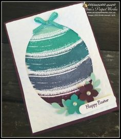 Work of Art Stamp Set Easter card including tutorial Stampin' Up! Ann's PaperWorks Ann Lewis  (Aus)  CASE Tami White