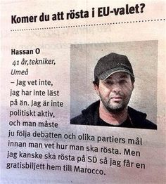 """Kommer du att rösta i valet till Europa? Wtf Funny, Funny Facts, Funny Jokes, Hilarious, Funny Shit, Funny Stuff, Swedish Quotes, Aktiv, Just Smile"