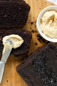 Double Chocolate Loaf with Peanut Butter Cream Cheese Recipe