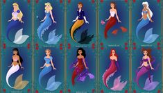 disney mermaids 2 by menolikee.deviantart.com on @deviantART