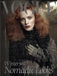 Polly Mellen was right. Sometimes the girl just needs to be left alone to grow into herself. Karen Elson has certainly grown into the stature of an iconic, unique and absolutely essential figure in the business.    Karen Elson's most recent campaigns:  http://models.com/models/Karen-Elson