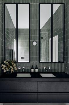 Laundry In Bathroom, Bathroom Renos, Scandinavian Lighting, Art Deco Bathroom, Powder Room Design, Beautiful Bathrooms, Modern Bathrooms, Bathroom Interior Design, Bathroom Inspiration