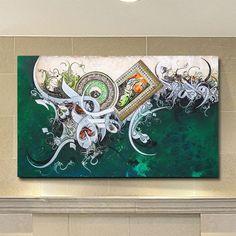 Bin Qalander Calligraphy Islamic Canvas Wall Art of Four Two Kalimas Arabic Calligraphy Modern Arabic Calligraphy Art, Arabic Art, Calligraphy Drawing, Lion Painting, Painting & Drawing, Islamic Wall Art, Islamic Decor, Canvas Artwork, Creative Art