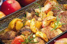 Oldalas steakburgonyával és sült almával - Vidék Íze