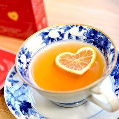 ハートのレモンが浮かぶ可愛いレモンティー 、レモンハート【pro+yam】