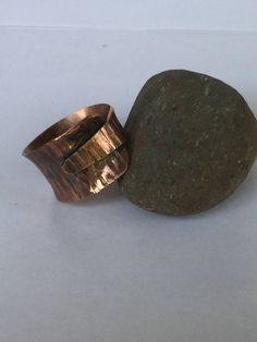Copper textured and oxidized wrap ring by WesternDesertDesigns on Etsy https://www.etsy.com/listing/554696343/copper-textured-and-oxidized-wrap-ring