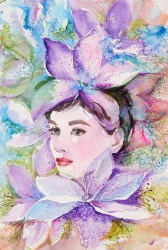 АКВАРЕЛЬ. Обсуждение на LiveInternet - Российский Сервис Онлайн-Дневников Audrey Hepburn, Modern Art, Painting, Cinema, Lilac, Drawing Drawing, Movies, Painting Art, Paintings