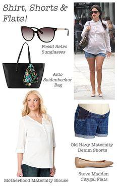 Shirt, Shorts & Flats! | One Mama, Four Looks: Rachel Bilson | The Baby Post