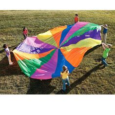 8 Handles 2m Kids Toy Rainbow Parachute Multicolor Nylon Children/adults/Family. Suitable For 4-8 individuals Outdoor Fun Sports