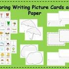 Spring Themed writing center that includes picture cards for scaffolded learning    Here is a writing center tha...