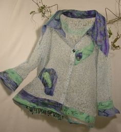 Jacket, Handmade, Wearable Art Size by Englishtrifles, $350.00