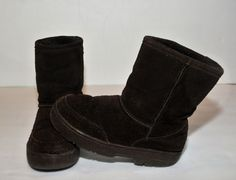 Bearpaw Girls Suede Boots, Size 2Y, Chocolate Brown Faux Fur Lined, Bear Paw  #Bearpaw #CasualShoesorboots