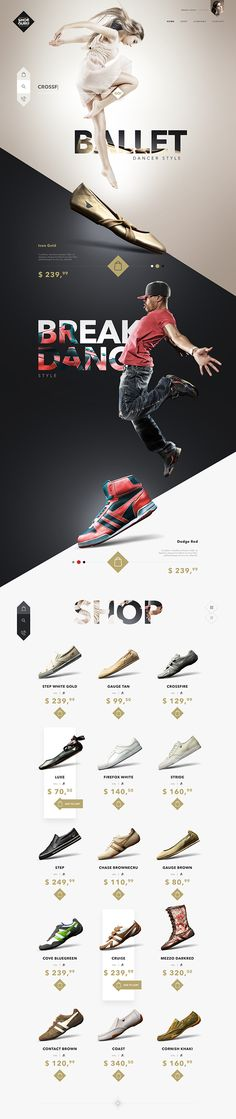 Ui design concept for Fashion Store website.