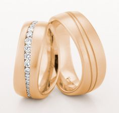 Christian Bauer Wedding Bands - Wedding rings london UK | Joule Matching Wedding Bands, Wedding Band Sets, Gold Wedding Rings, Wedding Matches, Perfect Wedding, Couple Rings, Ring Verlobung, Love Ring, Beautiful Rings