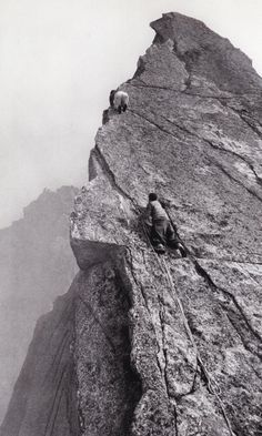 1940's Mountain Climbing - these two are much braver than I am...